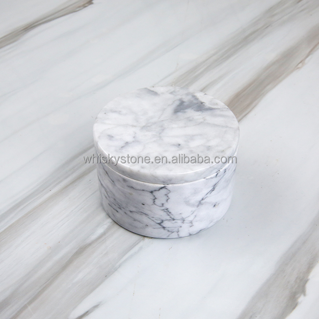 Marble handicrafts Polished Natural White Marble Jar