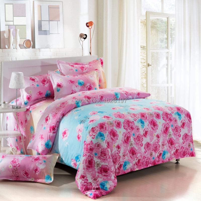 promotion quality cotton boho floret bedding set for king size bed bed linen 4pcs comforter sets. Black Bedroom Furniture Sets. Home Design Ideas