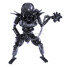Scrap-Metal Masked Predator with Mace Statue