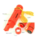 Factory direct sales plastic 5 in 1 emergency survival whistle with compass for outdoor activities
