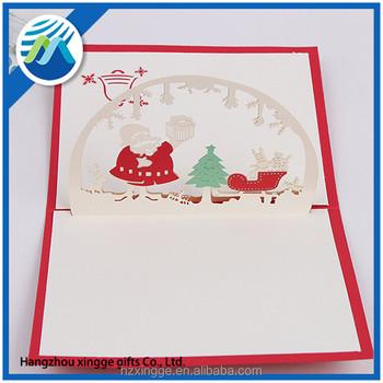 Factory supplier decorative 3d christmas cards pop up greeting factory supplier decorative 3d christmas cards pop up greeting holiday cards gifts m4hsunfo