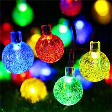 Гирлянда, глобус, лампа, солнечная светодиодная гирлянда, цепь, открытый водонепроницаемый светодиодный шар, гирлянда для вечеринки, свадьб...(Китай)