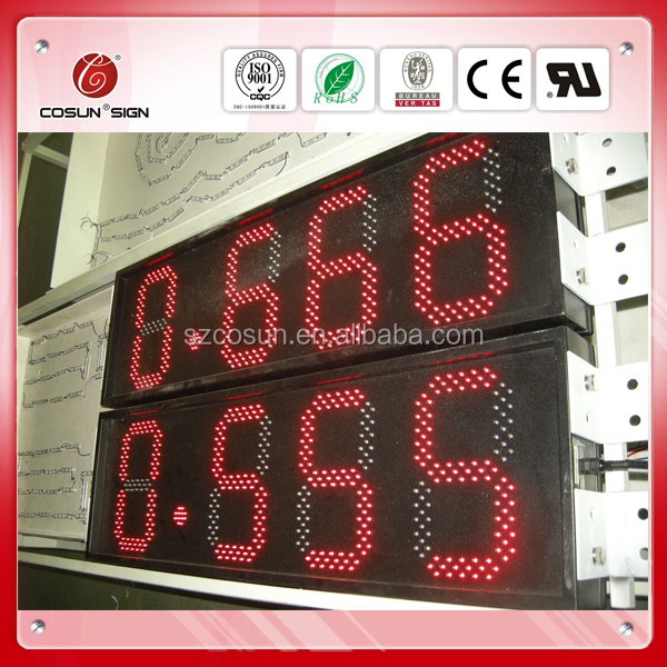 Led digital signage pylon sign for gas station