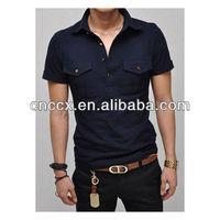 13PT1055 Men's cotton pocket dry fit t shirt polo