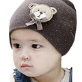 New Fashion 0 9M Lovely Infant Unisex Baby Boys Girls Bear Dots Pattern Cotton Cap Winter