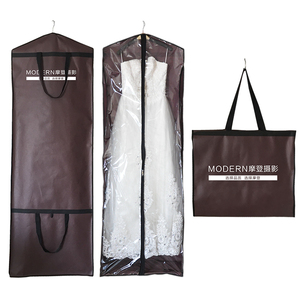 eco-friendly logo print Garment bag wedding dress bridal gown
