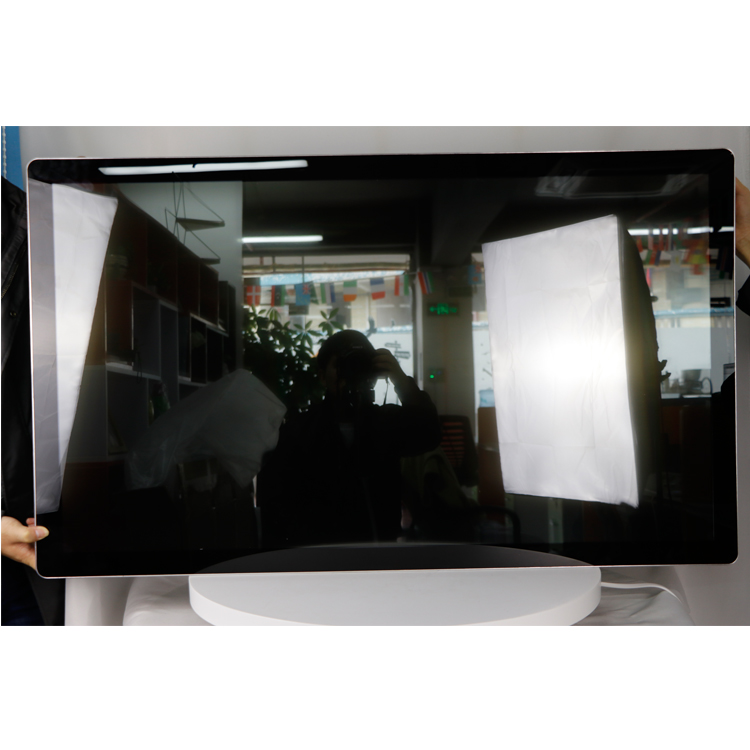 IP65 glass Wall mounted large 43 inch led PCAP Projected Capacitive Touch Screen Monitor advertising display