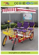 Most fashionable 4 wheel adult bike tandem bicycle for sale