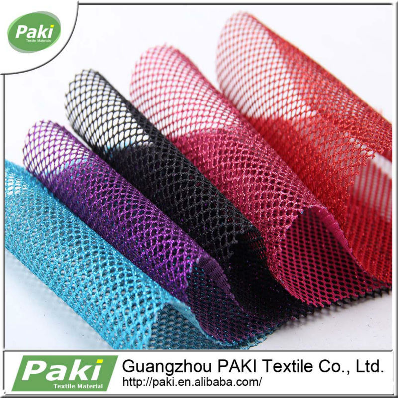 100% Polyester Shiny Mesh Net Fabric For Ornament