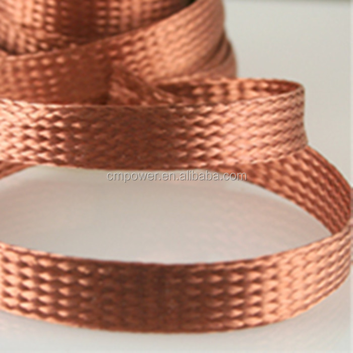 Braided Copper Wire : Insulated flexible tinned copper braided grounding wire