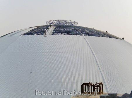Outdoor Metal Dome Shed Structure for Coal Yard Storage