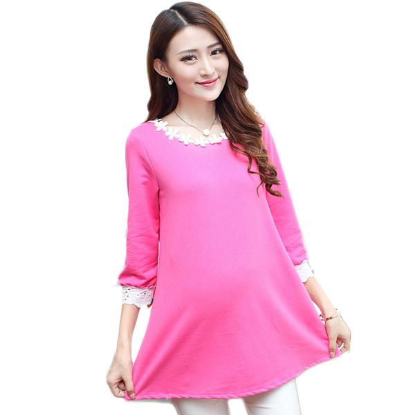 b6b3caad25d47 Get Quotations · Elegant Slim Maternity Wear Clothes for Pregnant Women Shirt  Plus Size Cotton Pregnancy Blouse Maternity Blouses
