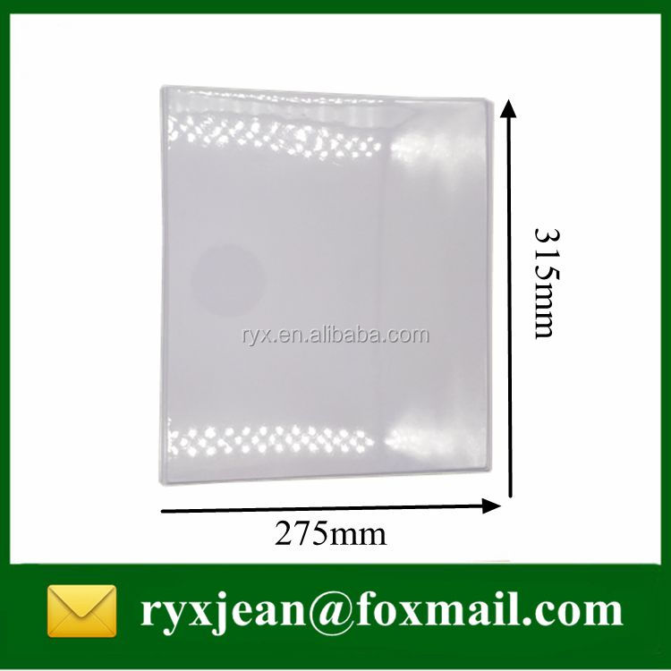 A4 size 3mm thickness 1 inch PVC 3D metal ring binder with a pocket