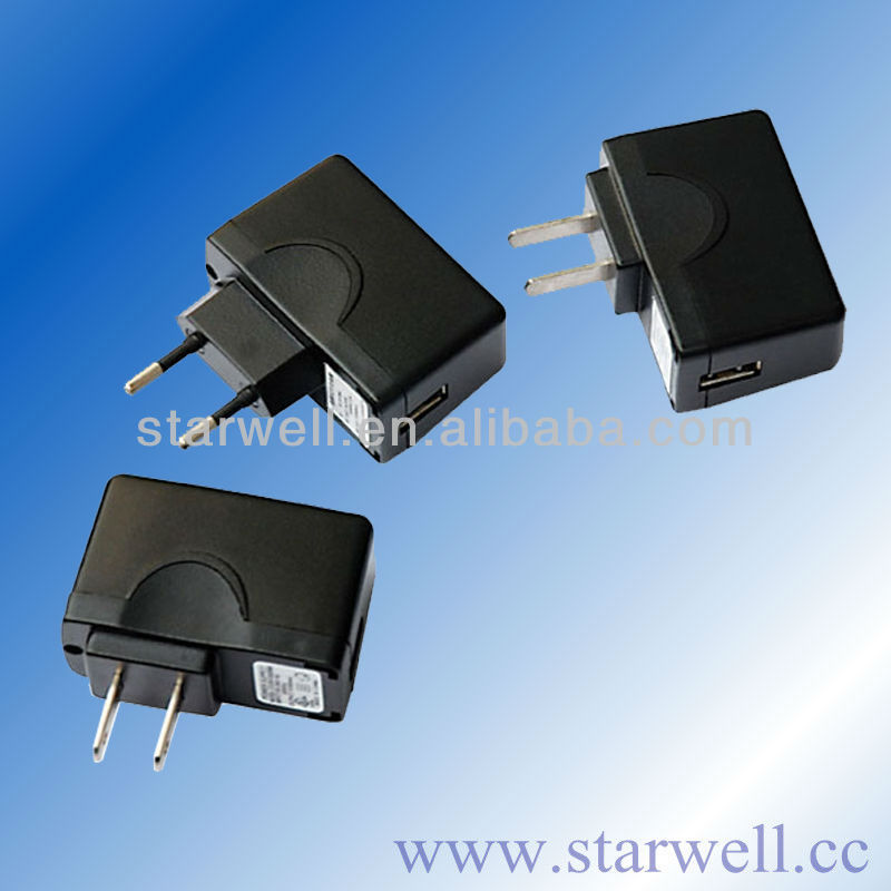5V AC/DC USB charger with CE UL FCC SAA C-TICK certificates