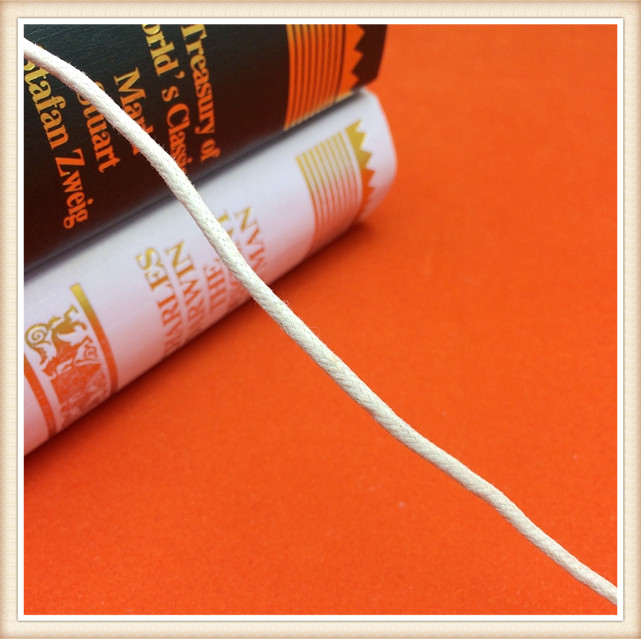 Ivory waxed polyester cord 3MM/waxed cord for apparel&shoes/nylon/polyester waxed cord