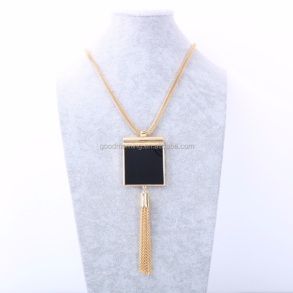square printed silkfred wooden melody jewellery by gold large handmade boutiques design geometric necklace rose g
