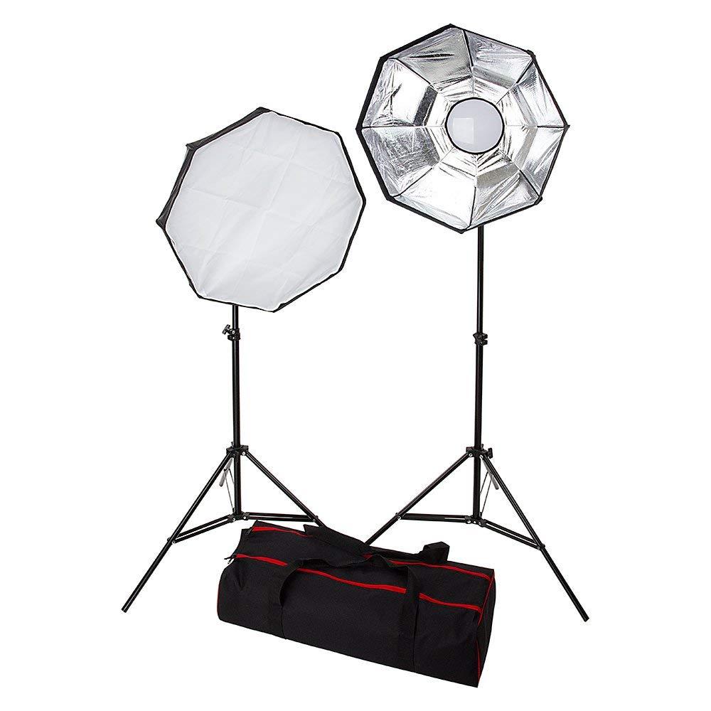 3000 Watt Fancierstudio Lighting kit Professional Digital Video Lighting Continuous Softbox Lighting Kit with Lighting Stand 9026S3