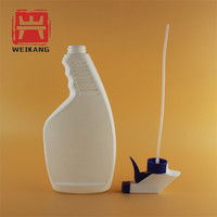 plastic bottle white spray 250ml flat with custom label