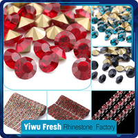 5mm point back glass non hotfix crystal rhinestone for decoration