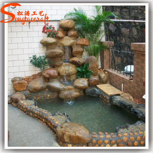 Home decor high quality garden decorative stone wall for Artificial water pond