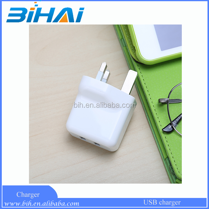 UK Plug Quick charge 3.0 2 usb wall charger,USB Travel Adapter