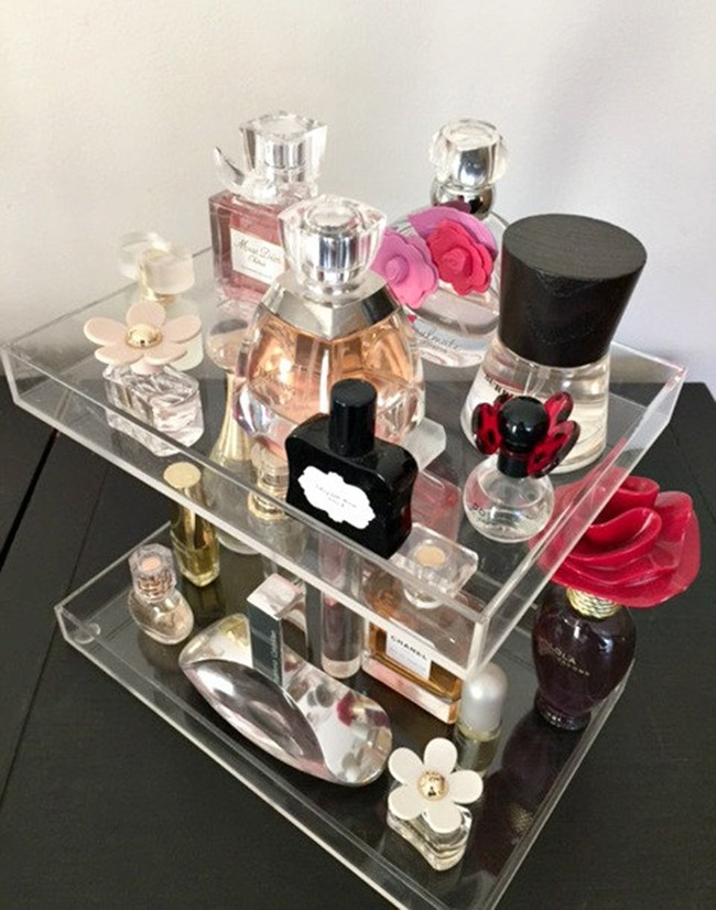 Highly Transparent Acrylic Perfume Organizer Perfume