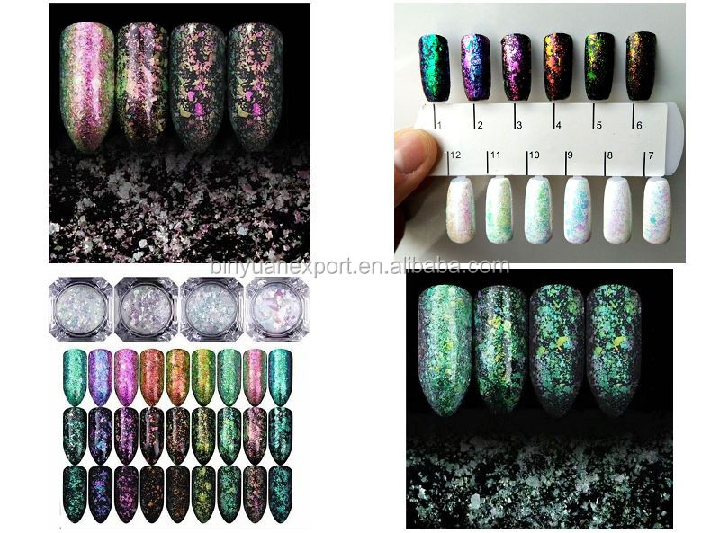 BIN Newest high quality nail art transparent Chameleon pigment Powder
