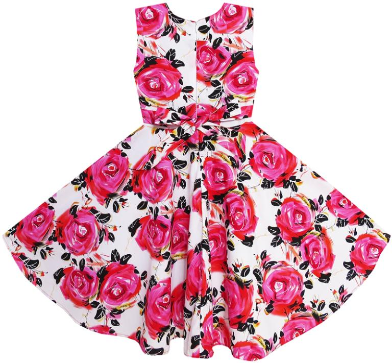 dac81820b4 Detail Feedback Questions about Flower Girl Dress Red Rose Party ...