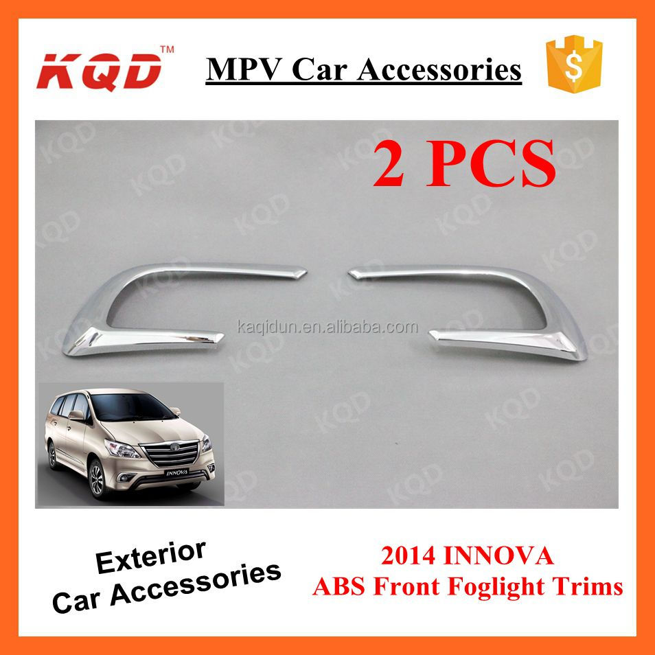 Trade Assurance Supplier Car Accessories Front Back Foglamp Foglight Brake Covers Trims for Toyota INNOVA 2014~2015