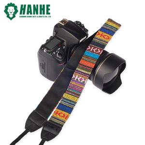 2019 NEW Soft Polyester Camera Neck Belt Custom Colorful Striped National Wind Soft Camera Shoulder Strap