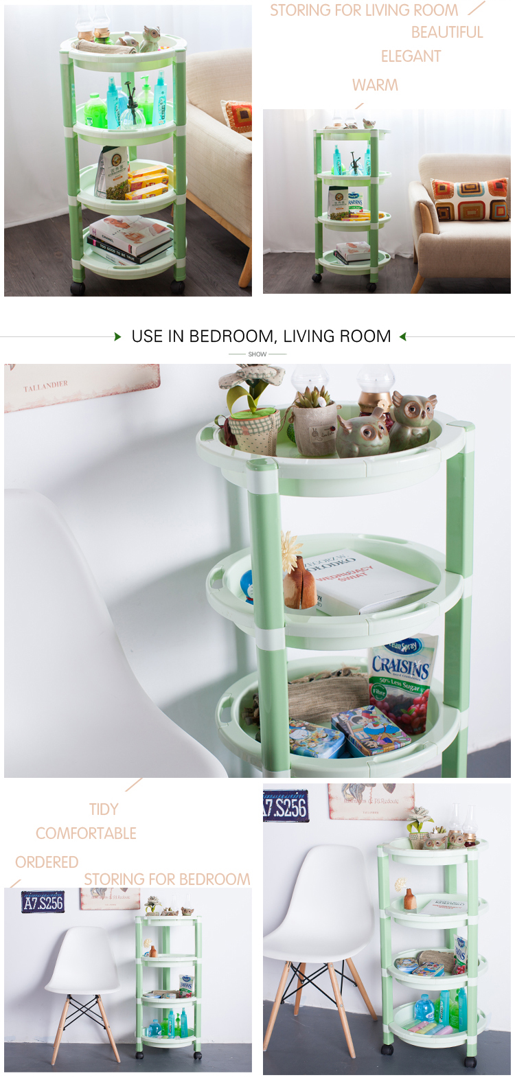 4-layer sundries bathroom corner storage rack for home