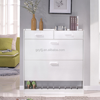 Contemporary White Custom Made Shoe Cabinet Malaysia Design With Top  Drawers 1009   Buy Custom Made Shoe Cabinet,White Shoe Rack,Shoe Rack With  ...