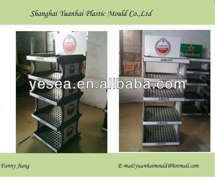 Retail display pallet injection moulding, store shelf tray injection moulding