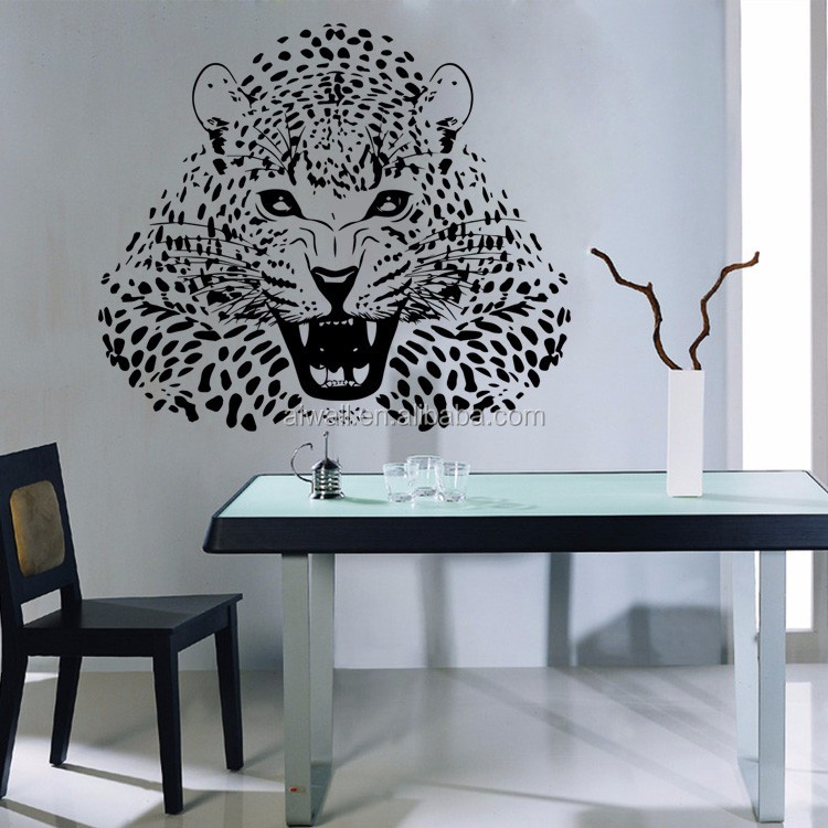 Wholesale  Ferocious LeopardPanther Wall Decals Vinyl Decals - Print custom vinyl wall decals