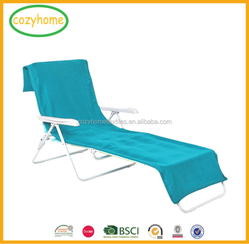 e7a54e3a6ca5 Lounge Chair Cover Luxury Turkish Cotton Side Pocket Option Eco-friendly Beach  Chair Cover With