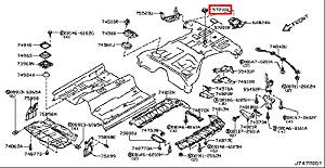 Infiniti Genuine Floor Fitting Spare Tire Luggage Room Clamp 74810-JY01A QX50/EX Q60/G COUPE Q45 M37/56 M35/45 M HYBR G35/37/25 SEDAN G35