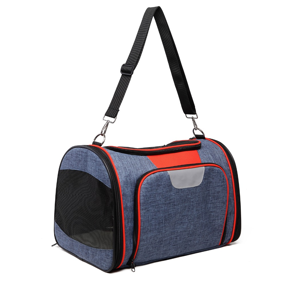 Lovoyager wholesale small dog carrier airline approved foldable soft sided expandable pet carrier travel bag