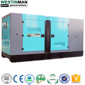 Chinese Engine Silent Enclosure Type 375kva 300kw Electrical Diesel Generation Set