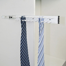 Wardrobe Side Mounted Pull Out Belt and Tie Rack