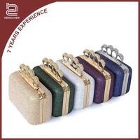 Evening purse handbag ring crystal evening bags clutches