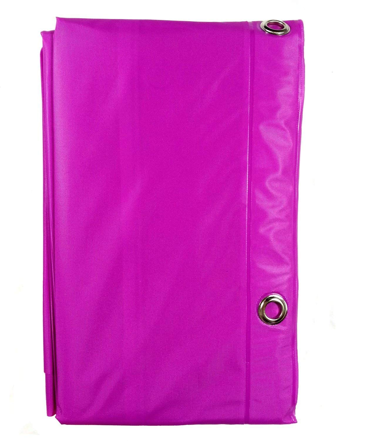Home&Bath Collection Vinyl Magnetic Shower Curtain Liner with Grommets - 70 x 72 - (Fushia)