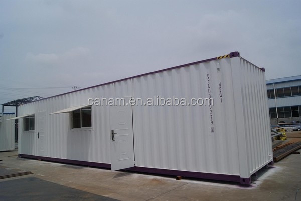 self-made steel welding container office