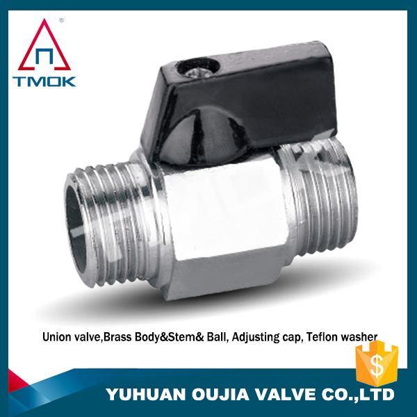 Chrome plated CE certification yuhuan manufacture no trade company india cw617n forged brass ball valve