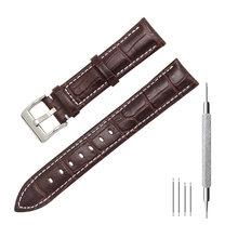 Ремешок для часов MEGALITH, из натуральной кожи черного цвета, 16 мм, 18 мм, 20 мм, 22 мм, аксессуары для часов, ремешки для часов для мужчин и женщин(Китай)
