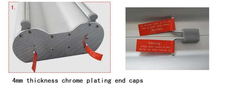 80200cm best selling double sided aluminum roll up standee roll up stand price
