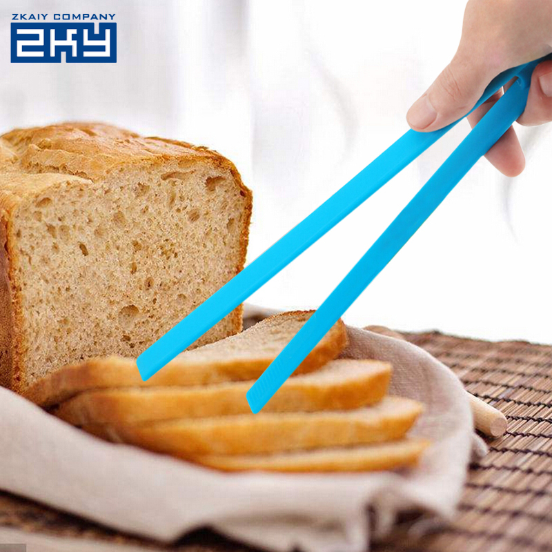 Silicone Food Tongs Long Size Steak Clamp Ice Baking Bread BBQ Clip Kitchen Cooking Utensil Tool