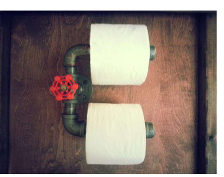 acheter urbain industriel style wall mount tuyau de fer papier toilette porte. Black Bedroom Furniture Sets. Home Design Ideas