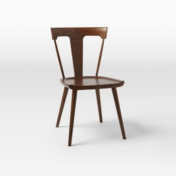 Solid Wood Cafe Chair Splat Dining Chair Restaurant Wood Chair