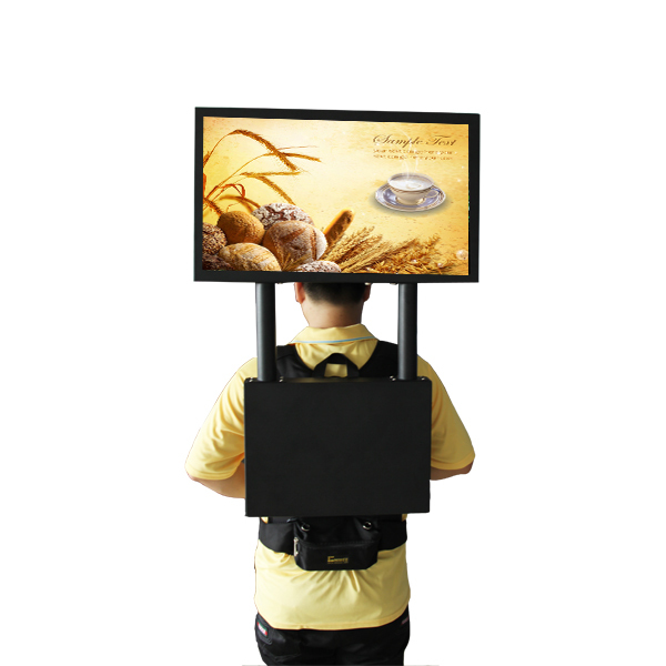 22'' Tft Lcd Human Gps Network Advertising Led Backpack Trade Show ...