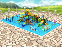 Water Park Play Slides with Multi-lane Slides for Swimming Pool